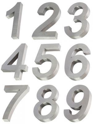 3D RVS Huisnummer 20cm - alle nummers