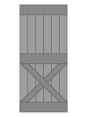 Eiken Schuifdeur op maat gemaakt - model 6 - Kruis onder