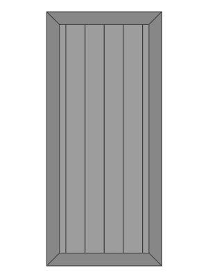 Eiken Schuifdeur op maat gemaakt - model 8 - Lijst
